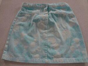 BHS Blue leaf pattern girls skirt. 11/12 yrs. 146/152 cm.
