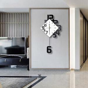 Modern Swing Wall Clock Nordic Style Living Room Fashion Decor Pendulum Clocks