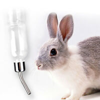 180ml Pet Stainless Steel Drinking Straws Water Bottle Feeder Rat Hamster Rabbit