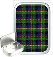 Green Tartan Gift Box,150ml Silver Hinged Tin,Tobacco Tin,Storage Tin