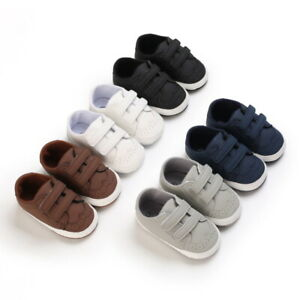 Newborn Infant Baby Boy Crib Shoes Toddler Oxford PreWalker Trainers 3 6 9 12 18