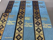 A Commentary on the Whole Bible Matthew Henry Complete 6 volumes Hardcover