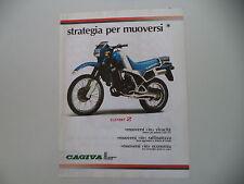 advertising Pubblicità 1985 MOTO CAGIVA 125 ELEFANT 2