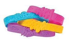 Pack of 12 - GIRLS Superhero Saying Bracelets - Marvel DC Party Bag Fillers