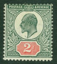 SG 228 2d pale grey green & scarlet. Fine unmounted mint CAT £80