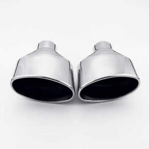 """2.25"""" 58MM Inlet Exhaust tips Oval Out for VW Golf 7 AUDI RS4 RS5 RS6 VOLVO S80"""