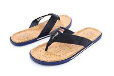 UGG Braven Leather Cork Men's Flip Flops Marino Blue Size 9 US