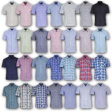 PIERRE CARDIN Hemd Freizeithemd Kurzarm Hemd gestreift Uni S M L XL 2XL 3XL 4XL