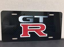 Nissan GTR Racing Carbon Fiber Print Aluminum License Plate