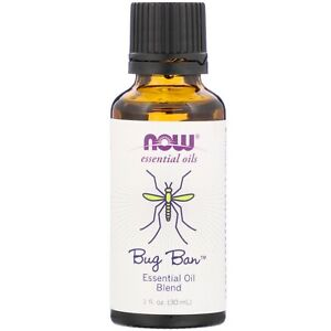 Now Foods Bug Ban Essential Oil Blend - 1 fl oz FRESH, FREE SHIPPING EXP:05/2021