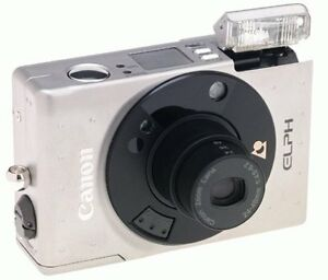 Canon Elph APS Point & Shoot Film Camera Stainless with 2x Zoom