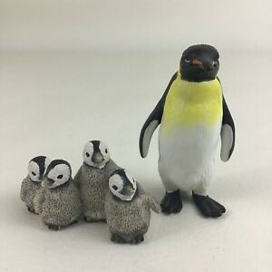 Schleich Penguin Family Chicks PVC Animal Figures Realistic Lifelike Emperor
