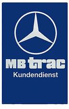 Mercedes-Benz MB trac Kundendienst Werkstattschild blau