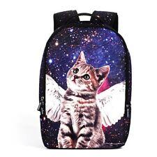 3D Printing Galaxy Star Cat Series Unisex School Bag Travel Backpack Leisure Bag