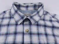 KS821 RJR. JOHN ROCHA linen blend check shirt size M, hardly worn!
