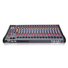 8/12/16 Channel Professional Live Studio Audio Mixer Power Mixing Amplifier Aa
