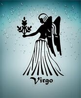 aufkleber sticker tierkreiszeichen zeichen jungfrau virgo schwarz  transparent