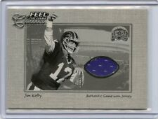 2000 FLEER GREATS OF THE GAME JIM KELLY JERSEY CARD, BUFFALO BILLS, 072218