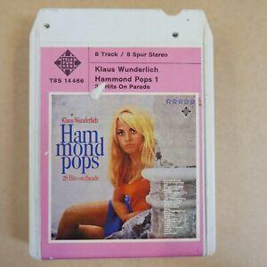 8 track cartridge  KLAUS WUNDERLICH hammond pops,  NOT SERVICED