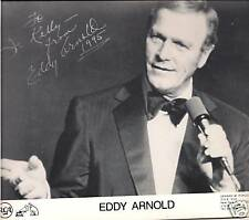 Eddy Arnold, County Music STAR, 2 Authentic Autographs 8X10 Photo personal NOTE