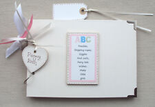 PERSONALISED   *BABY GIRL *  PHOTO ALBUM/SCRAPBOOK/MEMORY BOOK. . A5 SIZE.