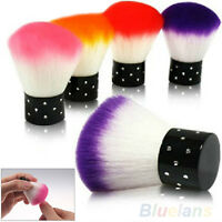 AM_ Fashion Colorful Nail Brush For Acrylic & UV Gel Nail Art Dust Cleaner BL7K