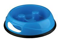 TRIXIE Slow Feeder No Gulp Dogs Plastic Bowl Pet Food 3 sizes, 2 colours