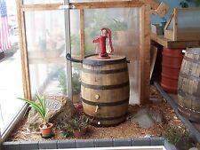 Whiskey Barrel Rain Barrel c/ Red Pitcher Pump-Flex Fit Diverter-FREE SHIPPING
