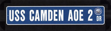 "USS CAMDEN AOE 2 Street Sign 6""x30"" Military decal"