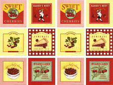 VinTaGe ImaGe GinGhaM & CheRry LaBeLs ShaBby WaTerSliDe DeCals *AmeRiCaNa*