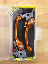 KTM SXF250 SXF 250 2006- 2013 FLEXI FLEXIBLE LEVER LEVERS SET ORANGE