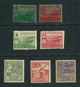 7 MLH stamp - Germany 1945-46 Soviet Zone - Saxony