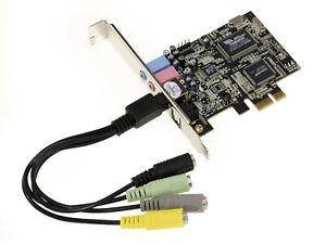 Karte Pcie 1x Sound 8 Kanäle 7.1. Chipsatz Via Tremor VT1723 & Asm 1083 Dolby