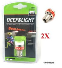 2x 12V LED REVERSE BEEPER BACK UP ALARM WARNING ALERT LIGHT BULB CAR SENSOR P21W