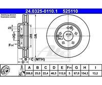 2 St. ATE Bremsscheibe Power Disc   für Mercedes-Benz C-Klasse E-Klasse CLK