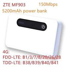 Unlocked ZTE MF903 4G LTE FDD/TD 150Mbps Mobile WiFi Hotspot 5200mAh Power Bank