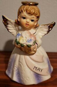 VINTAGE porcelain BIRTHDAY MONTH May angel nippon yoko boeki  50s