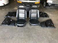 BMW X5 E53 HEATED SPORT SEAT SEATS 4.6is 4.8is DOOR PANEL LEATHER BLACK OEM