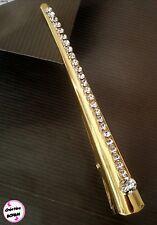 Grande pince strass en cristal 13 CM Fabrication artisanale Bijou de cheveux