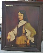 Old original oil painting ,2 sides different paintings 1after Van Dyck,, Newsham