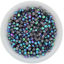 48 pc - SCARABAEUS GREEN 3mm Swarovski Crystal Bicones #5328