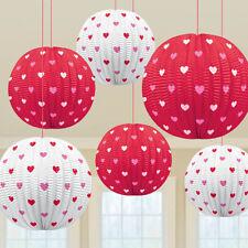 MINI party giorno S. Valentino Cuore Rosso Bianco Lanterna Da Appendere Festa Decorazione