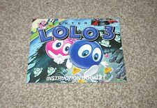 NINTENDO NES PAL A Australian/english MANUAL ONLY for  ADVENTURES OF LOLO 3