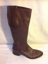 Geox Brown Knee High Leather Boots Size 38