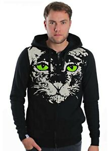 Dropdead Clothing Zombie Cat Black Gothic Style Hoodie Drop Dead Deadstock RARE