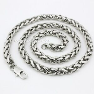 "16"" ~ 36"" 316L Stainless Steel Diameter 5.0mm Mens Biker Necklace Chain 5D017B"