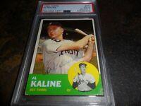 1963 Topps #25 Al Kaline DETROIT TIGERS Autographed Authentic SIGNED PSA/DNA