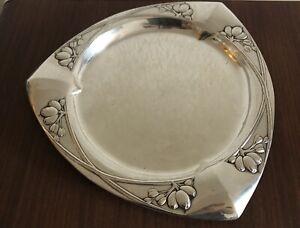 Bruckmann Tablett floraler Jugendstil 800 Silber