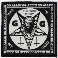 GG ALLIN PATCH / SPEED-THRASH-BLACK-DEATH METAL