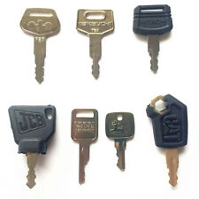 Heavy Equipment Key Set 7 Keys- CAT Case JCB John Deere Hitachi Takeuchi Komatsu
